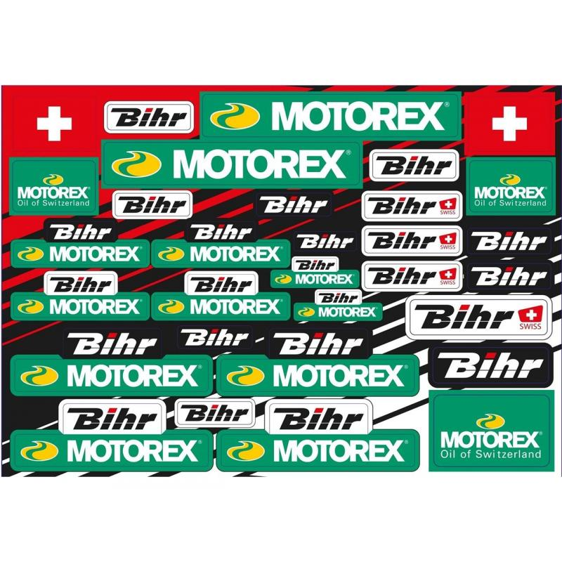 Planche d'autocollants Blackbird/Motorex/bhir