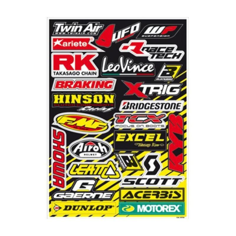 Planche d'autocollants Blackbird Racing Logo Sponcor A
