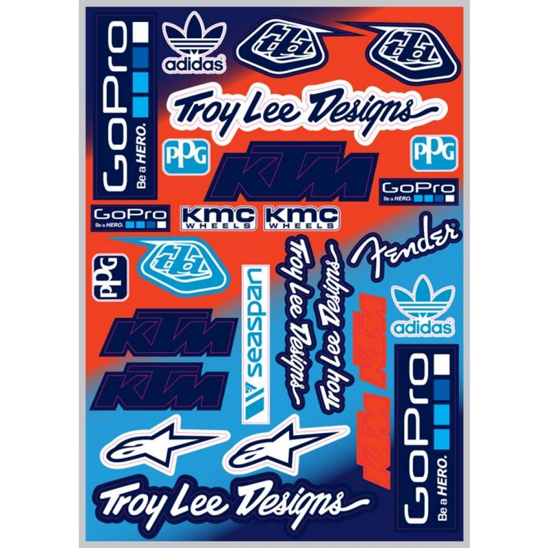 Planche d'autocollants Troy Lee Designs