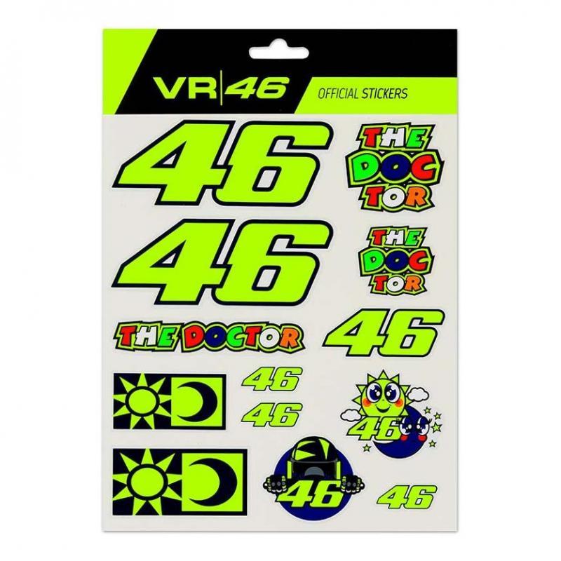 Planche de stickers VR46 grand modèle