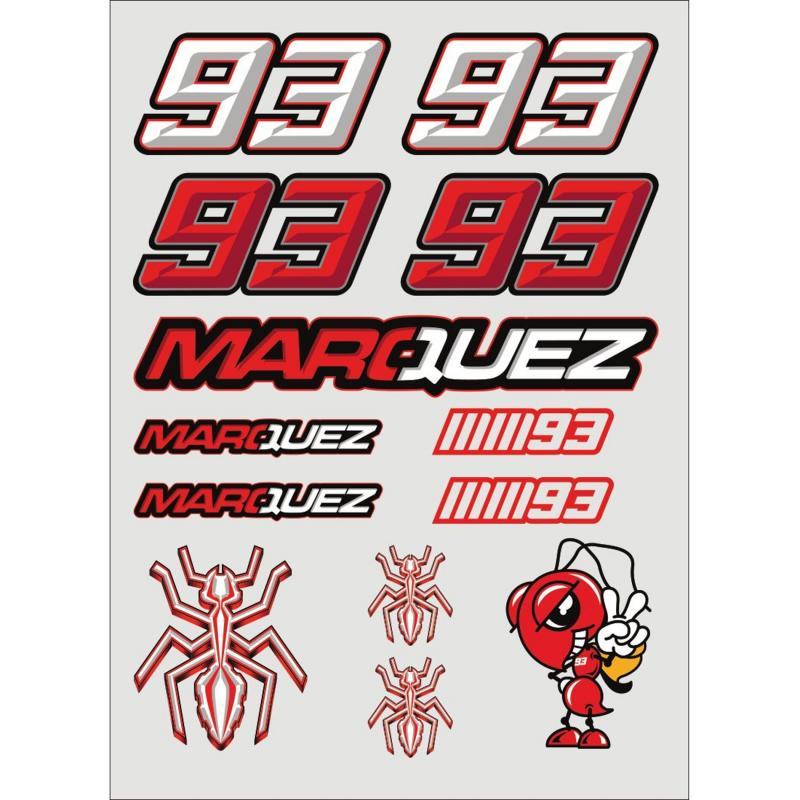Planche stickers Marc Marquez blanc/rouge (Grande)