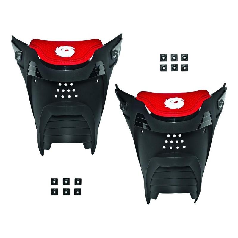 Plaque arrière Sidi Rex noir/rouge