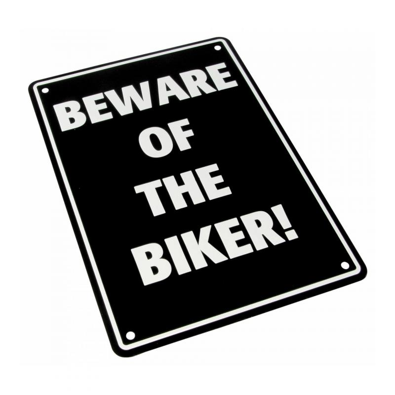 Plaque de parking Beware of the biker!