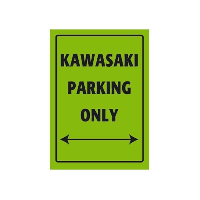 Plaque de parking Kawasaki parking only