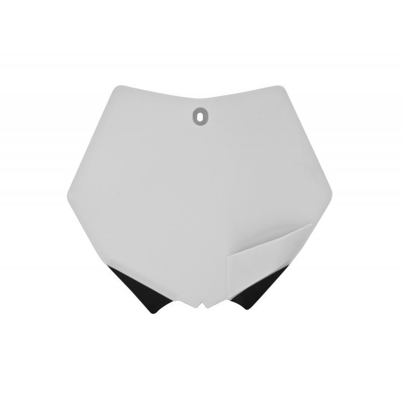 Plaque numéro frontale RTech blanche pour KTM SX 125 07-12