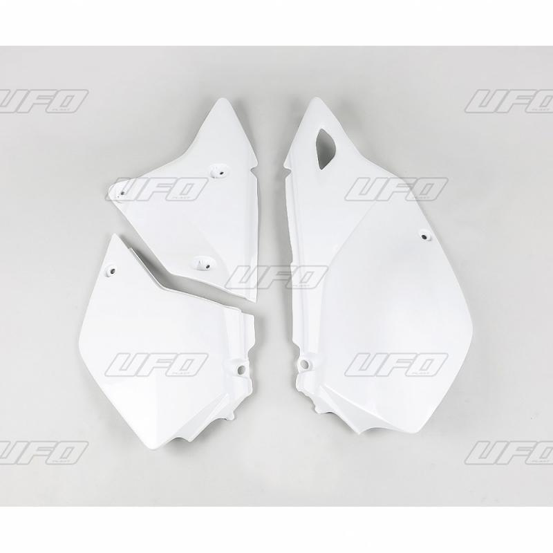 Plaque numéro latérale UFO Suzuki DR-Z 400E 00-05 blanc
