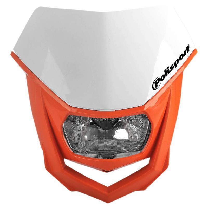 Plaque phare Polisport Halo blanc/orange
