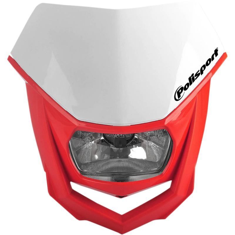 Plaque phare Polisport Halo rouge/blanc