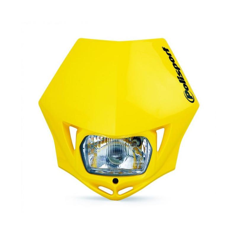 Plaque phare Polisport MMX Jaune Suzuki