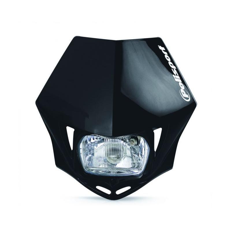Plaque phare Polisport MMX Noire