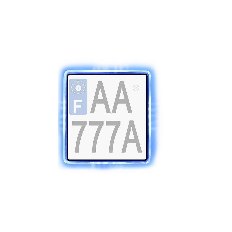 Plaque rétro éclairée TNT Tuning Bleu
