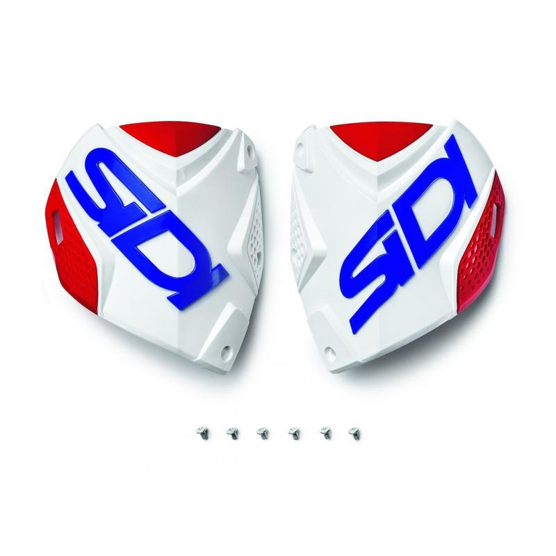Plaque tibiale Sidi Crossfire 2 Blanc/Rouge/Bleu