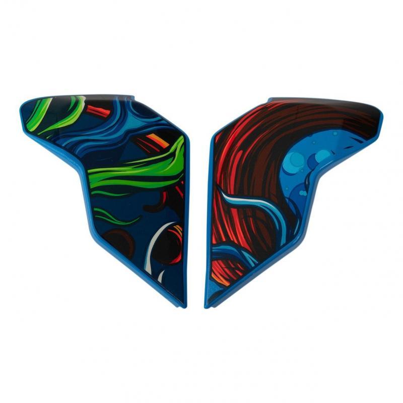 Plaques latérale Icon pour casque Airflite Inky, bleu