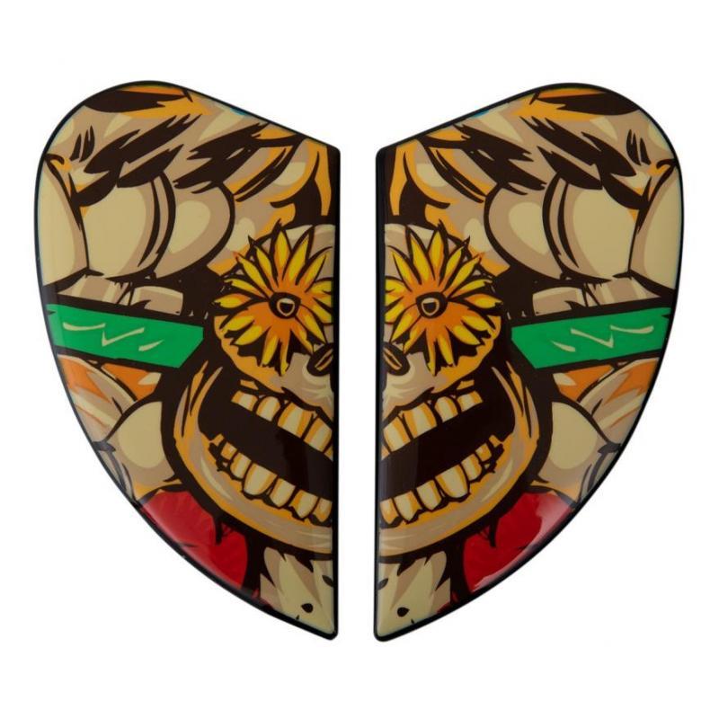 Plaques latérale Icon pour casque Airmada Dia de los muertos, rouge