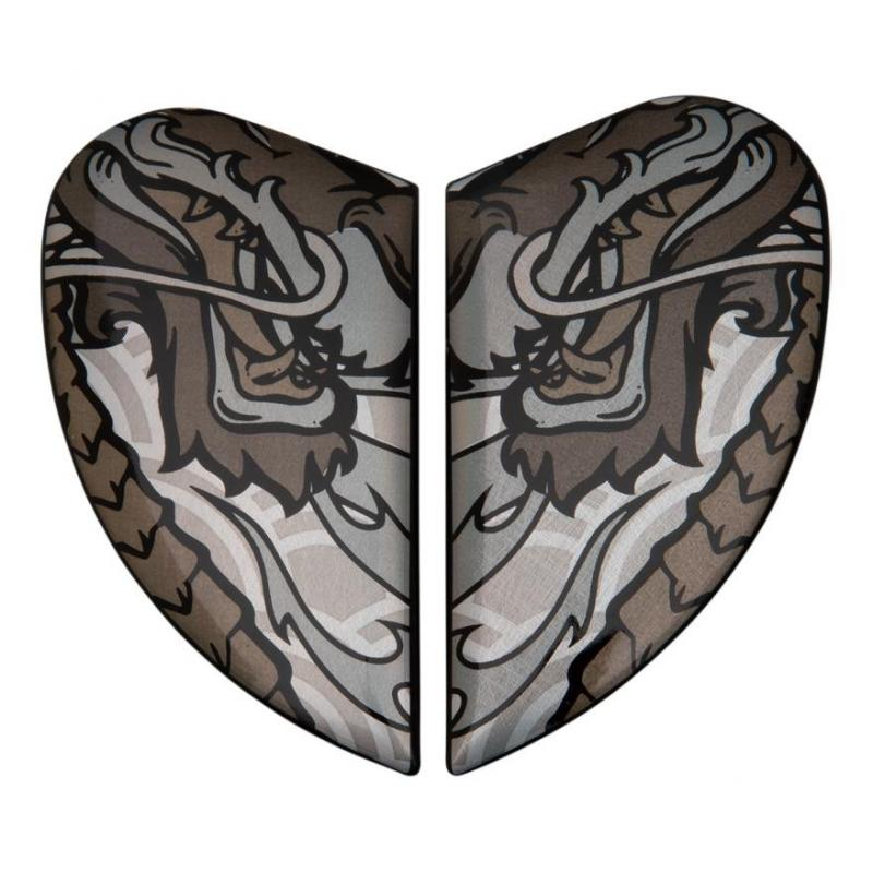 Plaques latérale Icon pour casque Airmada Legion silver