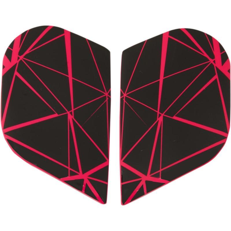 Plaques latérales Icon Alliance Crysmatic Hi-viz rose