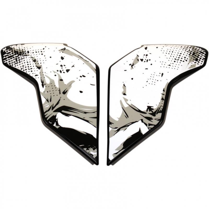 Plaques latérales Icon pour casque Airflite Skull 18 noir