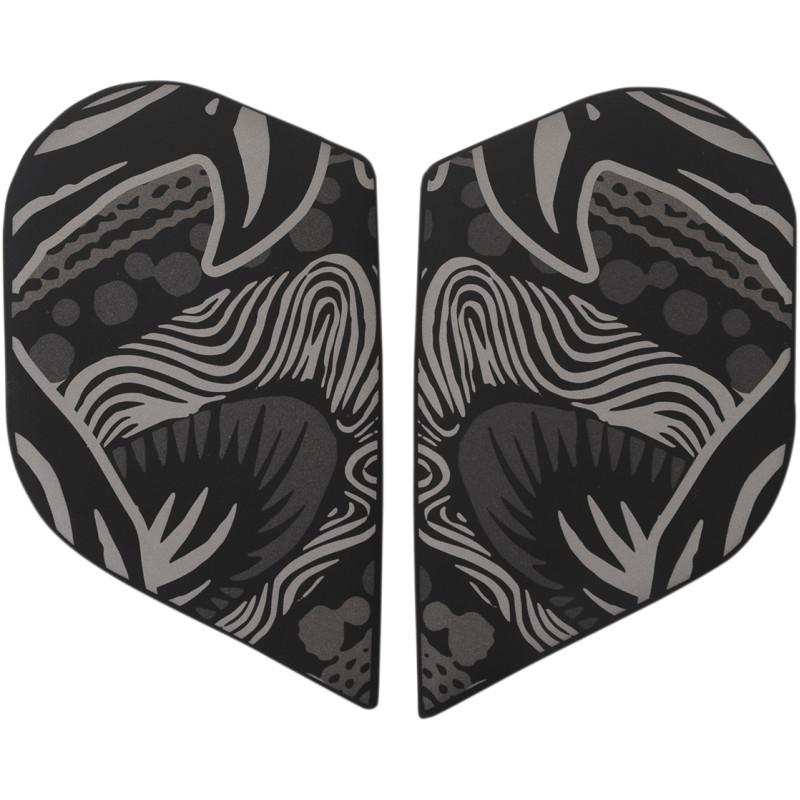 Plaques latérales Icon pour casque Alliance Oro Boros noir