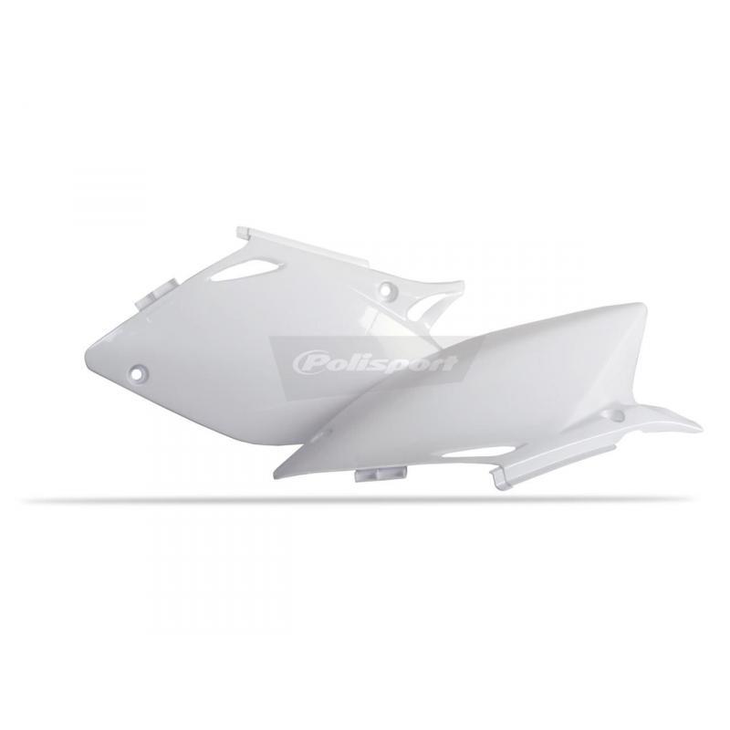 Plaques latérales Polisport Honda CRF 450R 02-04 blanc