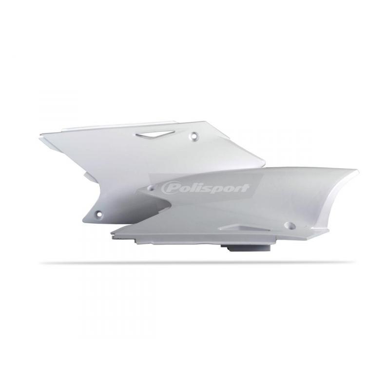 Plaques latérales Polisport Kawasaki 250 KX-F 04-05 blanc