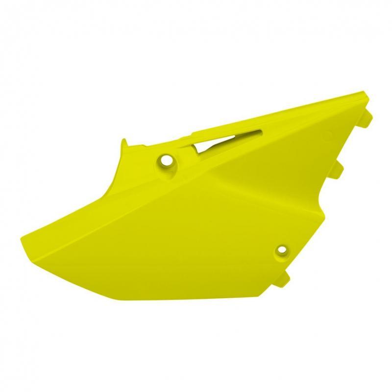 Plaques latérales Polisport Yamaha 125 YZ 15-21 jaune fluo