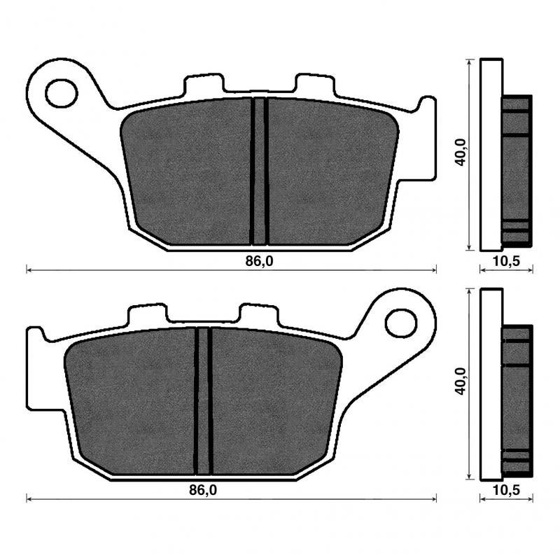 Plaquettes de frein arrière Africa Twin/Transalp