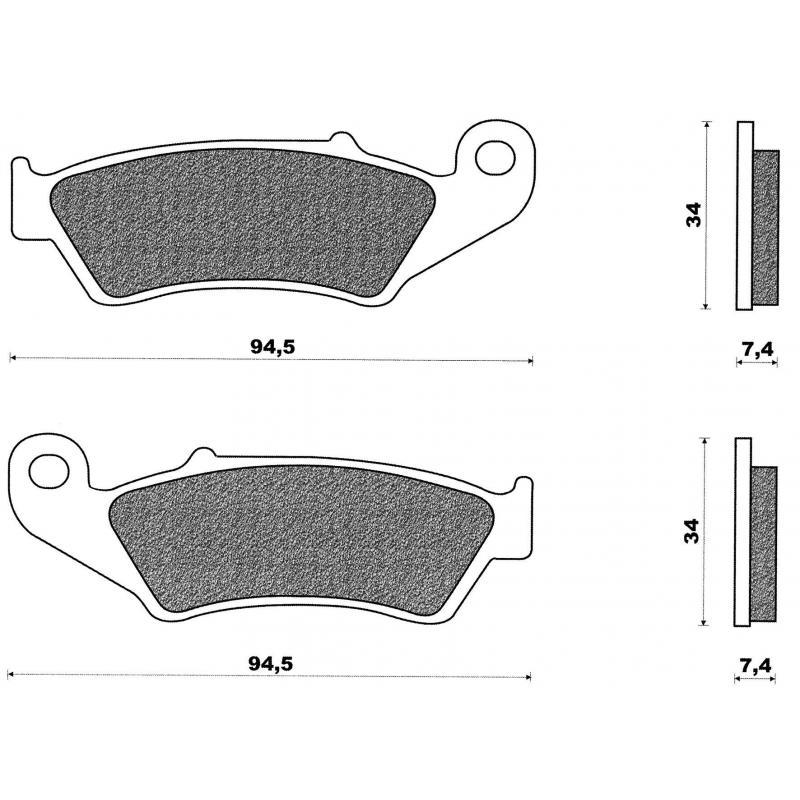 Plaquettes de frein avant C4 CRE 125-250 RMX 250