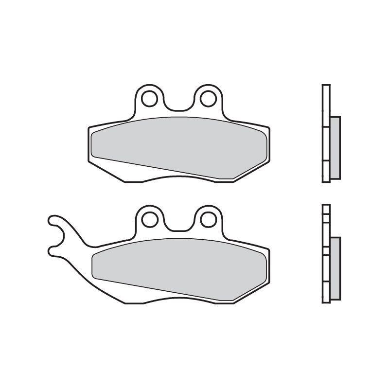 Plaquettes de frein Brembo 07012CC carbone céramique avant