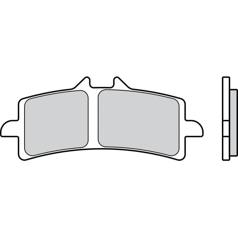 Plaquettes de frein Brembo 07BB37LA métal fritté route