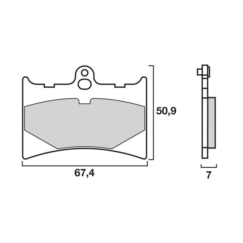 Plaquettes de frein Brembo 07gr56 05 organique