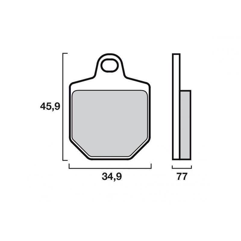 Plaquettes de frein Brembo 07GR76SX métal fritté racing