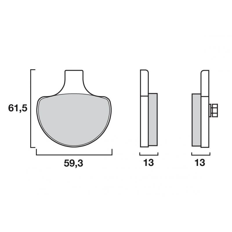 Plaquettes de frein Brembo 07HD0614 organique