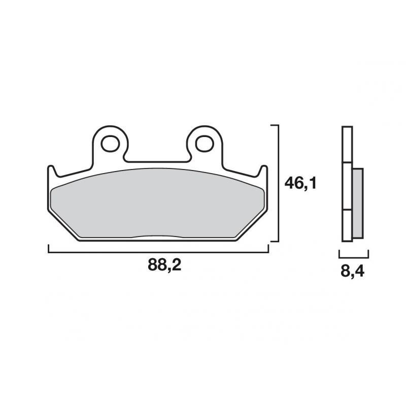 Plaquettes de frein Brembo 07HO23SP métal fritté