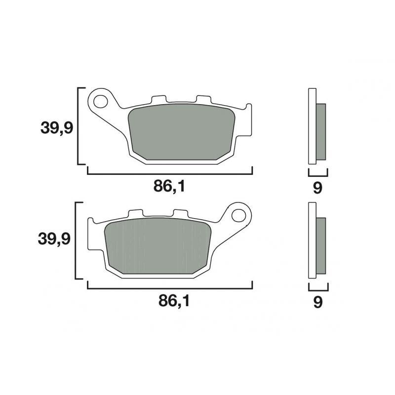 Plaquettes de frein Brembo 07HO53CC organique