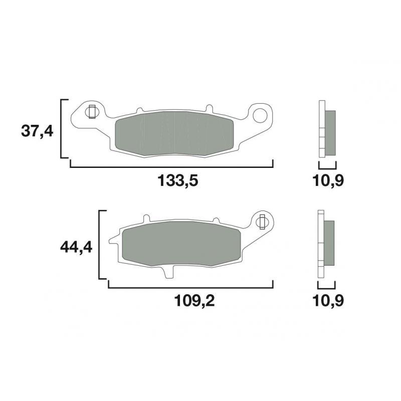 Plaquettes de frein Brembo 07KA15CC organique