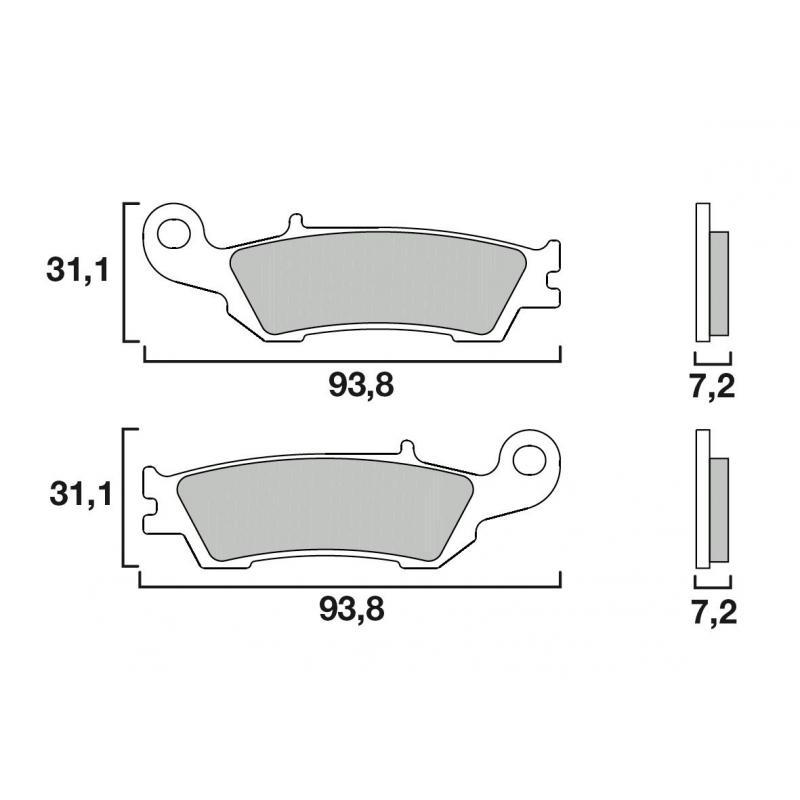 Plaquettes de frein Brembo 07YA47SX métal fritté racing