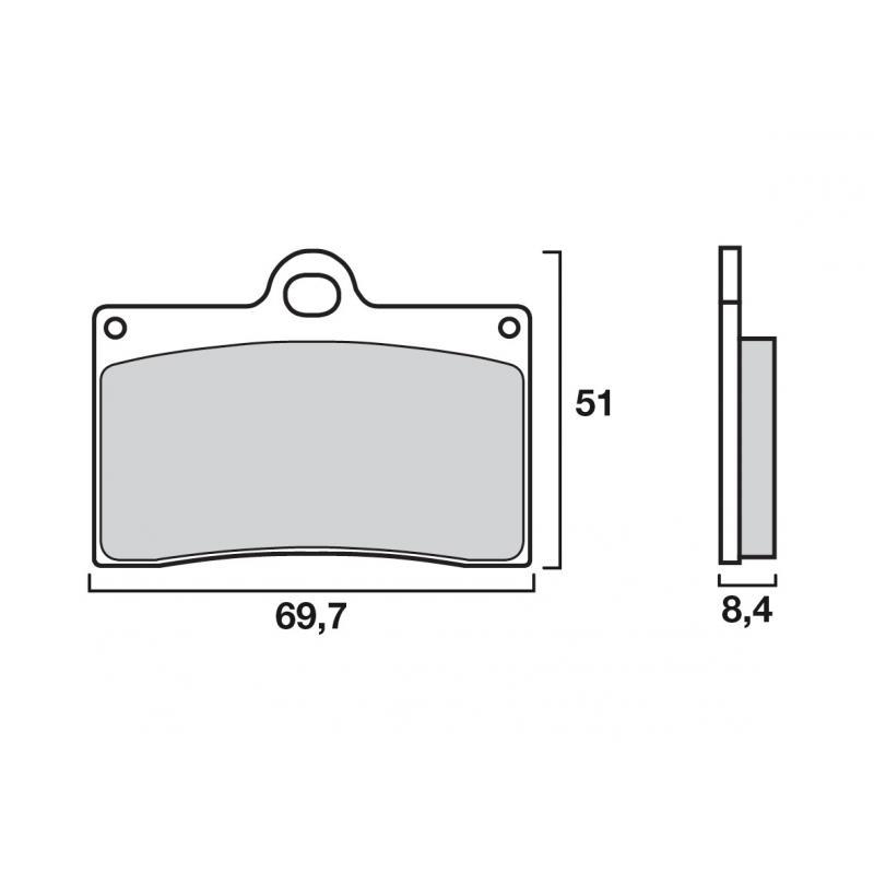 Plaquettes de frein Brembo métal fritté 07BB15SA