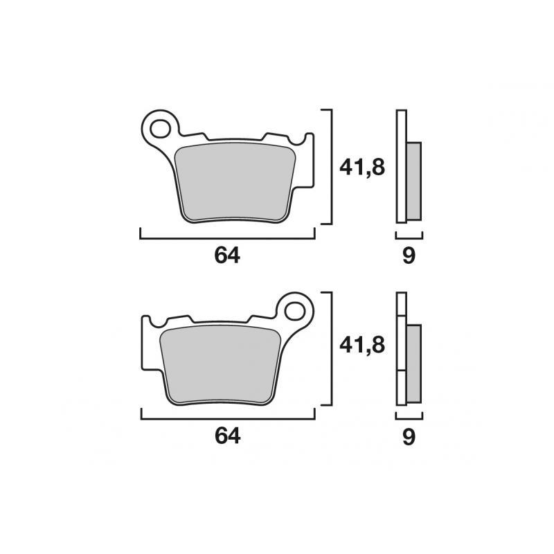 Plaquettes de frein Brembo métal fritté 07BB27SX KTM SMR 450 13-16