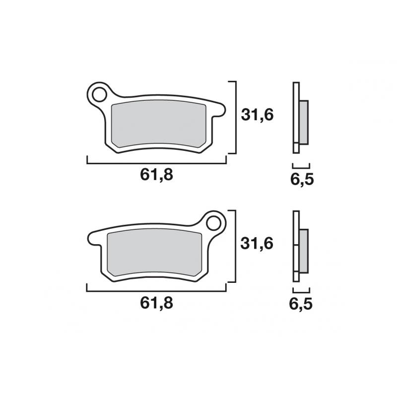 Plaquettes de frein Brembo métal fritté 07GR69SD