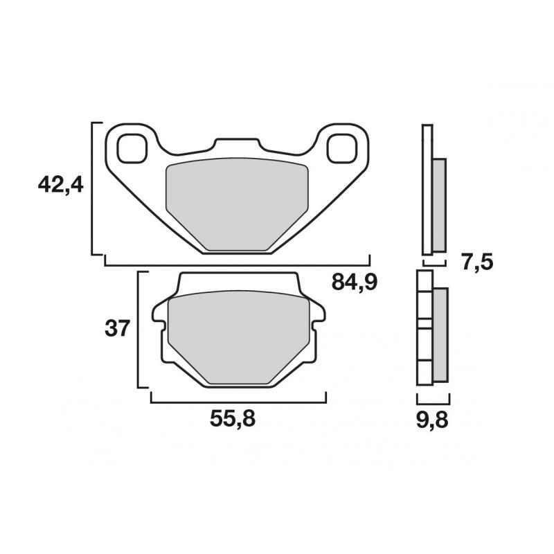 Plaquettes de frein Brembo métal fritté 07KS04SD