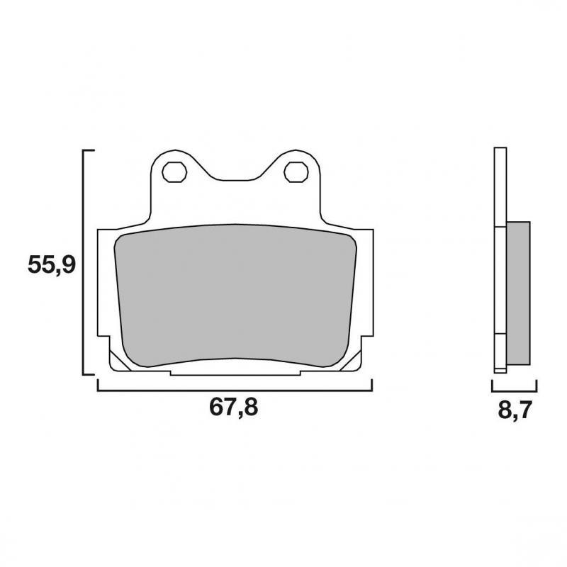 Plaquettes de frein Brembo métal fritté 07YA12SA