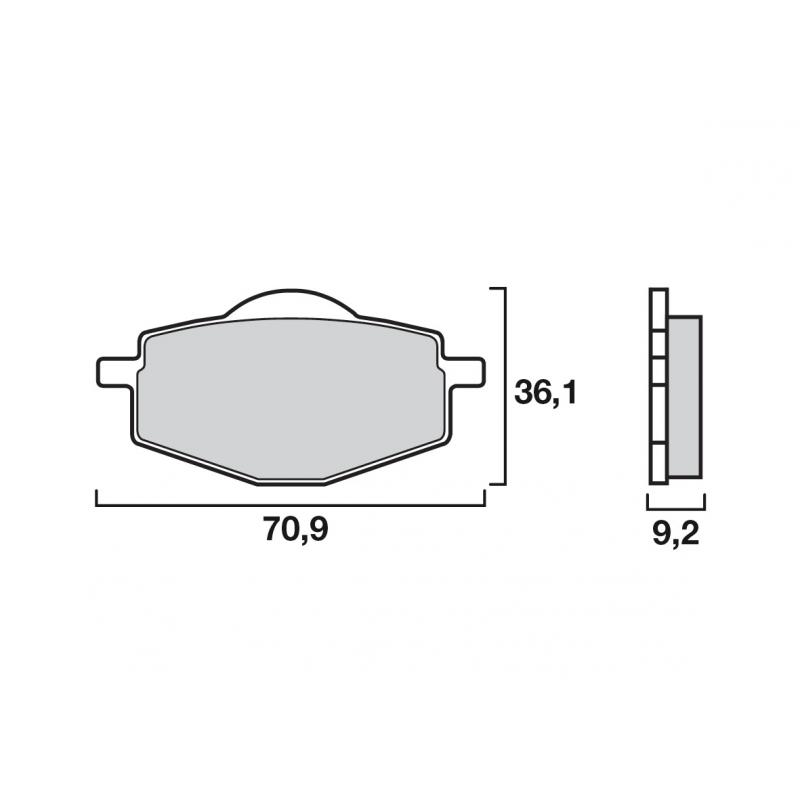 Plaquettes de frein Brembo métal fritté 07YA14SD