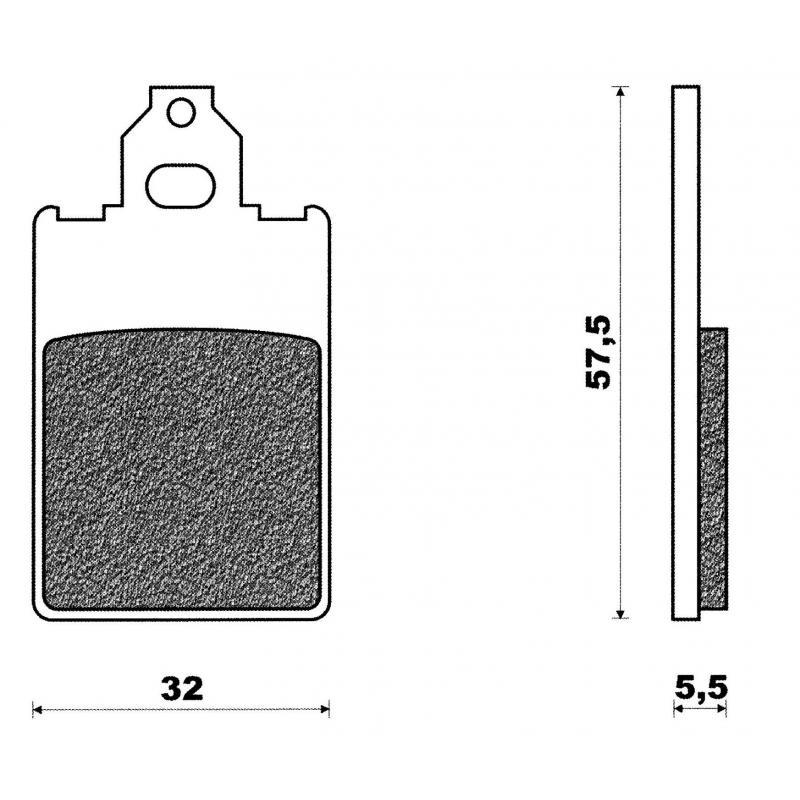 Plaquettes de frein C4 F12 X-Limit DT 50