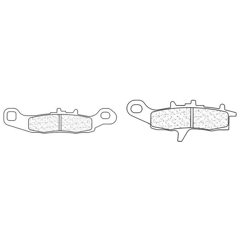 Plaquettes de frein Carbone Lorraine 2750MX10