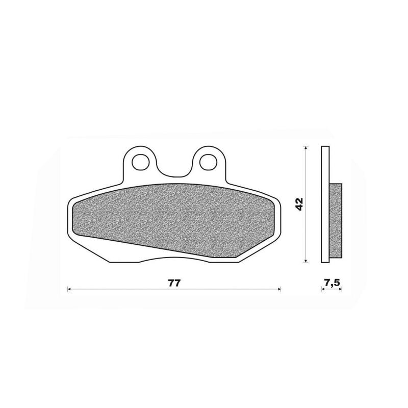 Plaquettes de frein Newfren métal fritté .FD.0162