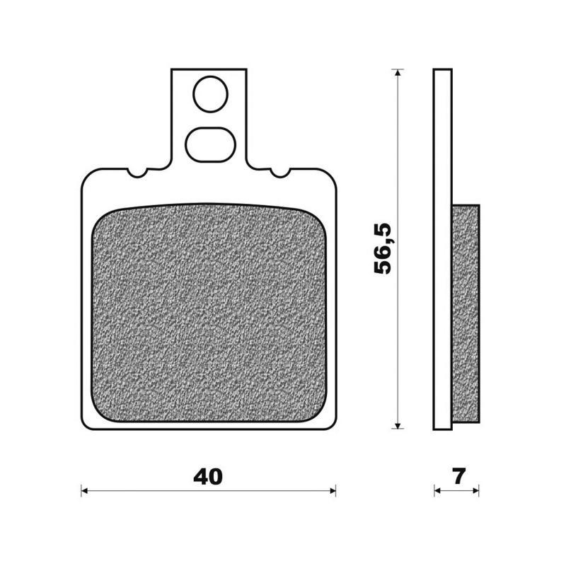 Plaquettes de frein Newfren organique Aprilia RS