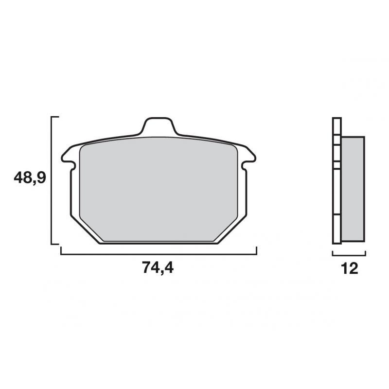 Plaquettes de frein origine Brembo 07HD0413 organique