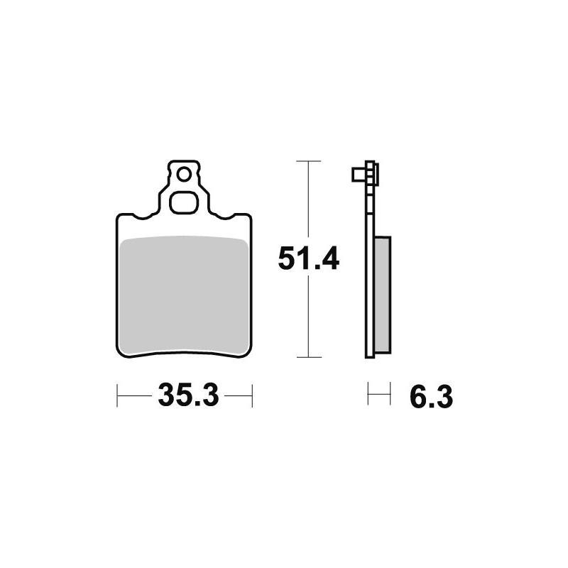 Plaquettes de frein SBS carbone silver 574CS