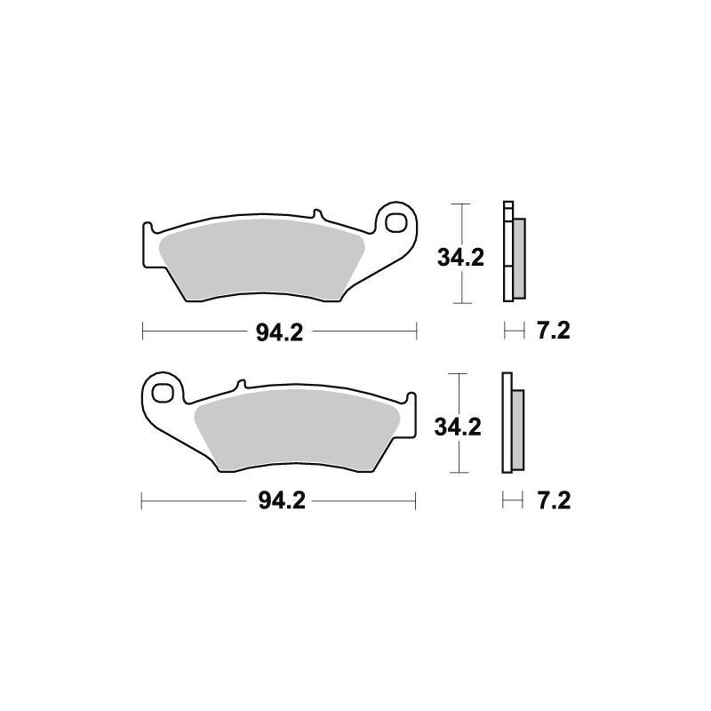 Plaquettes de frein SBS carbone silver 694CS