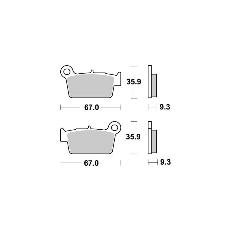 Plaquettes de frein SBS carbone silver 790CS